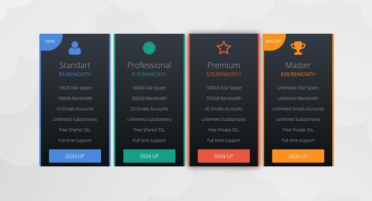 Best html css pricing table best html css pricing table for Best table css