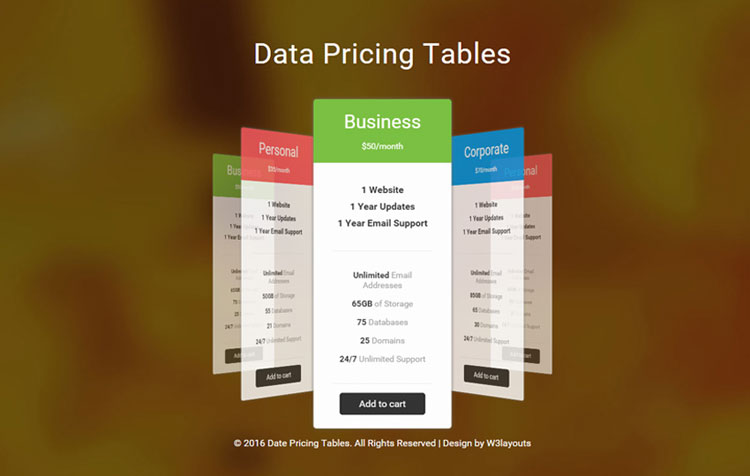 data-pricing-table-template