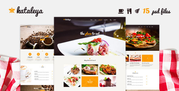 kataleya-restaurant-one-page-psd-template