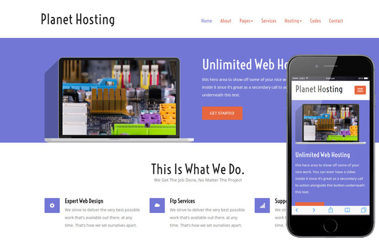 planet-hosting-free-bootstrap-template