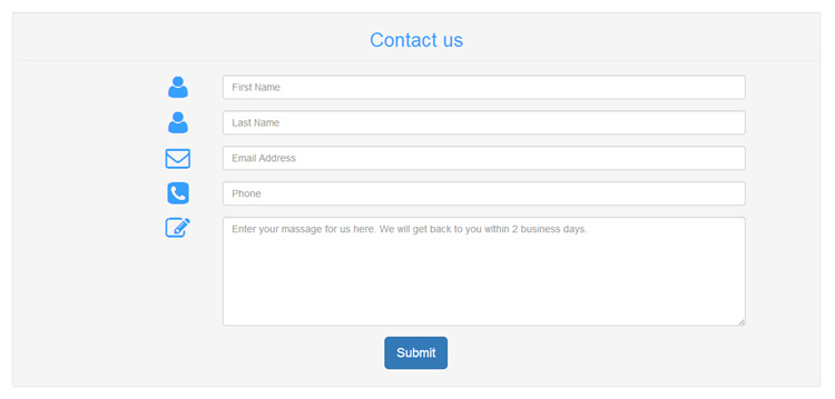 bootstrap-responsive-contact-form