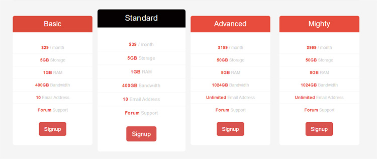 flat-pricing-table-bootstrap
