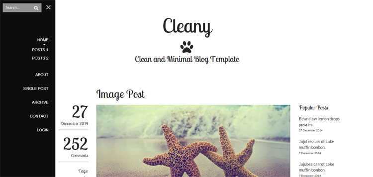 cleany-blog-portfolio-template