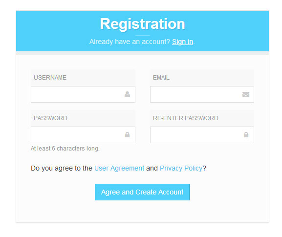Bootstrap Registration Form