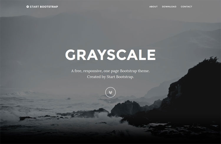 grayscale-free-one-page-template