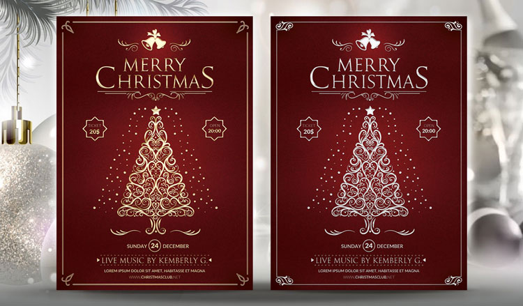 20 christmas flyer templates psd designs page 3 of 3 designerslibcom for Merry christmas flyer