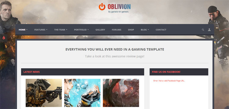 oblivion-multipurpose-gaming-template