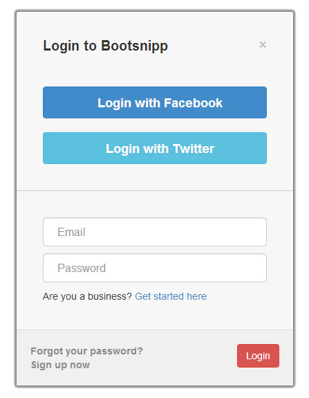 pinterest-like-login-box