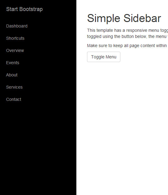 simple html menu template - 15 bootstrap sidebar menu templates