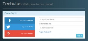social-login-page-with-css
