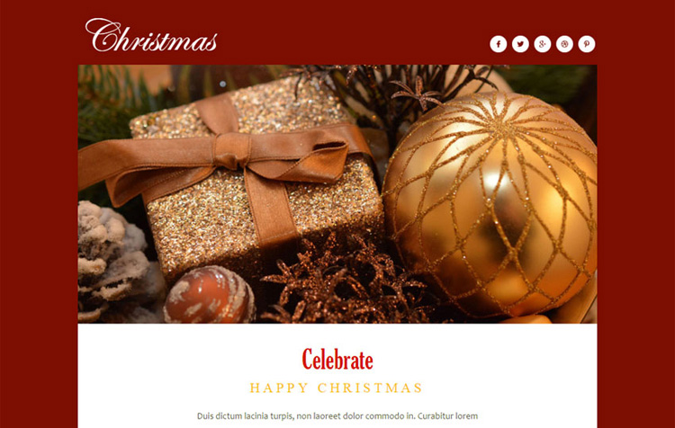 christmas-newsletter-responsive-web-template