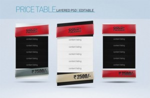 deluxe-gold-package-pricing-table-set-psd