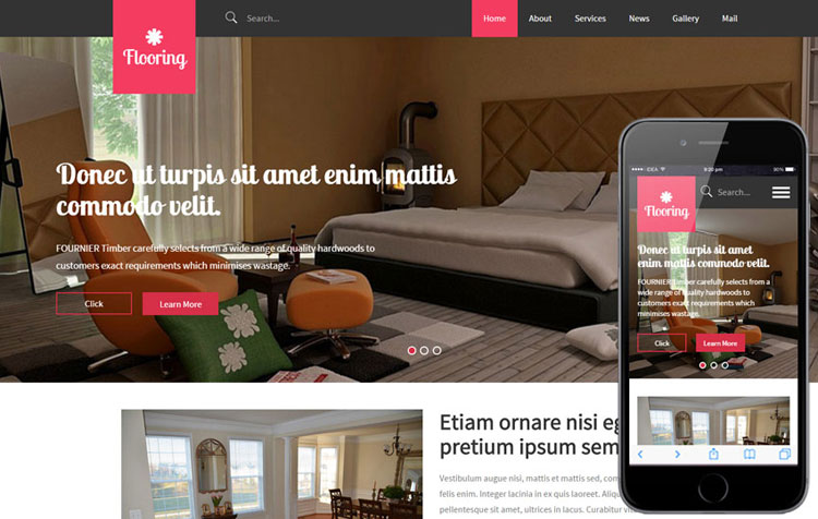 flooring-interior-design-bootstrap-template