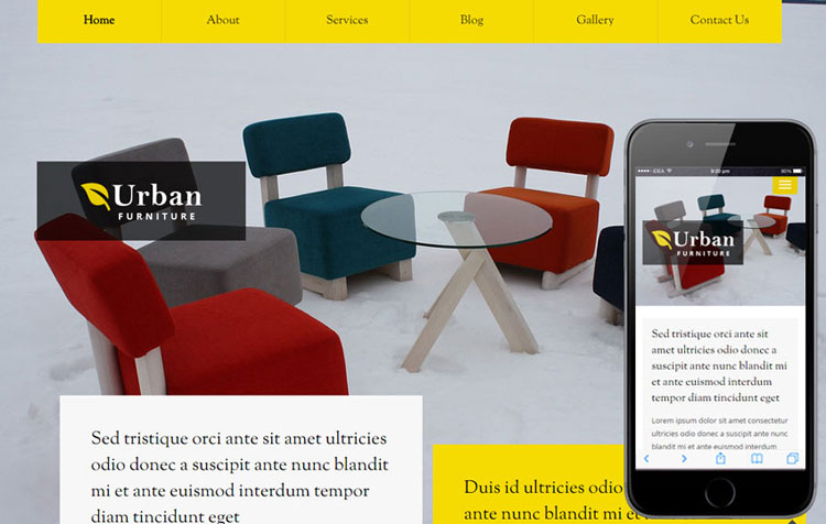 urban-furniture-flat-bootstrap-template