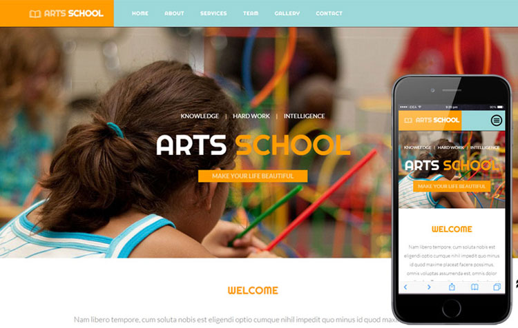 arts-school-bootstrap-education-template