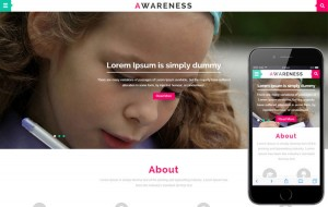 awareness-bootstrap-education-template