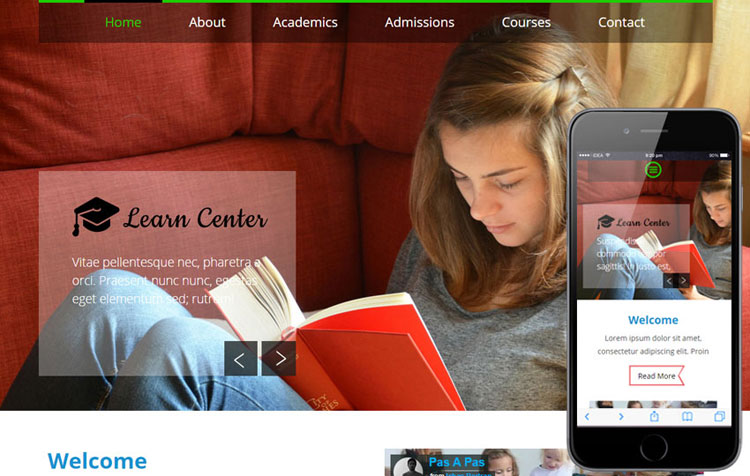 learn-center-bootstrap-education-template