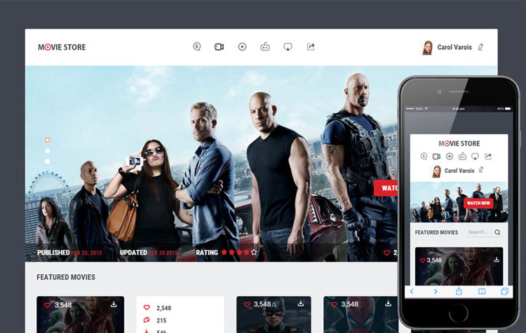movie-store-entertainment-bootstrap-template