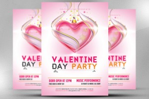 valentine-day-party-flyer-template