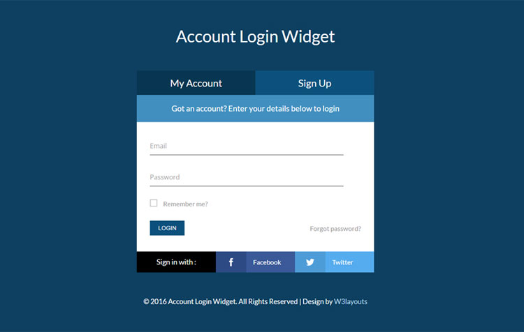 65 attractive html css login form templates page 7 of 7 for Login page in asp net template