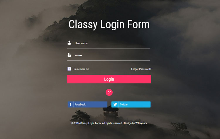 65 attractive html css login form templates for Responsive stylesheet template
