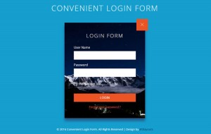 convenient-login-form-template