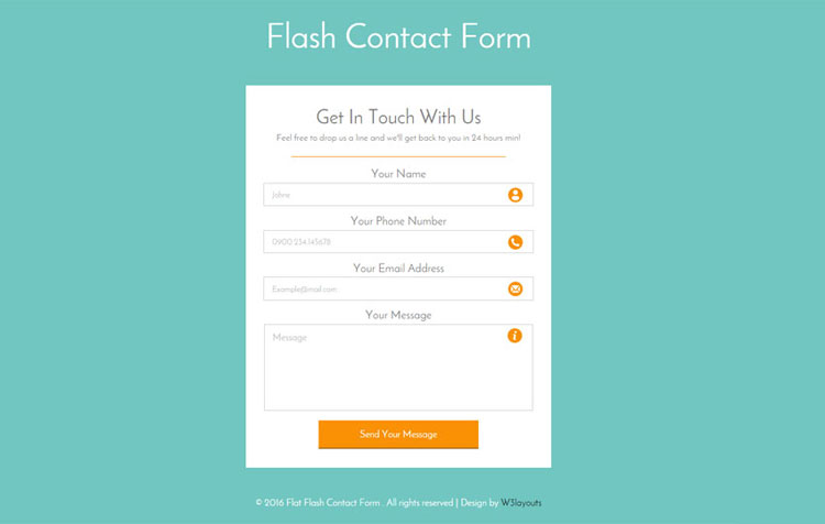24 html css contact form templates free download for Responsive stylesheet template