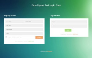 flat-signup-and-login-form