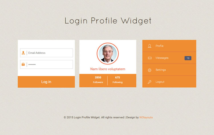 CSS Login Form Template Download
