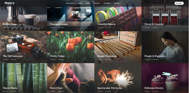 malory-bootstrap-photography-template