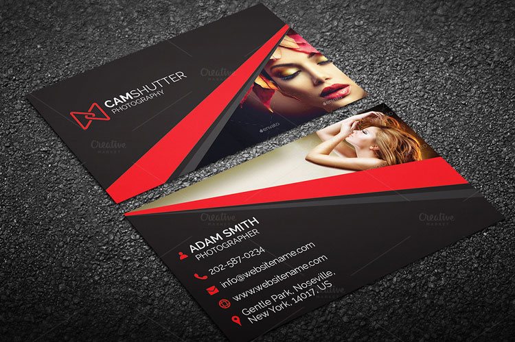 10 best photography business card templates for Best business cards for photographers