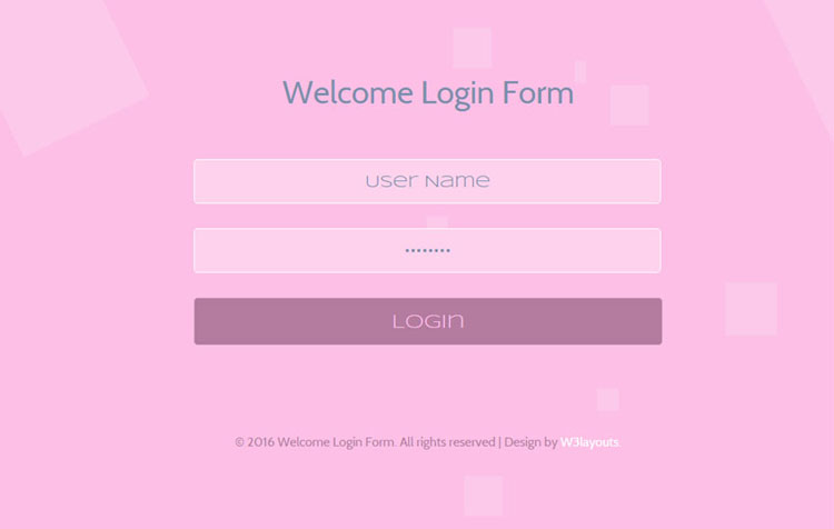 65 attractive html css login form templates page 2 of 7 for Responsive stylesheet template