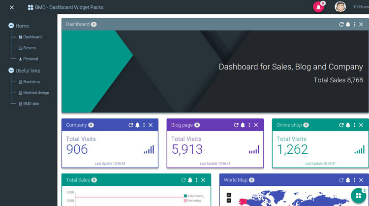 bootstrap-material-design-dashboard-widget-pack