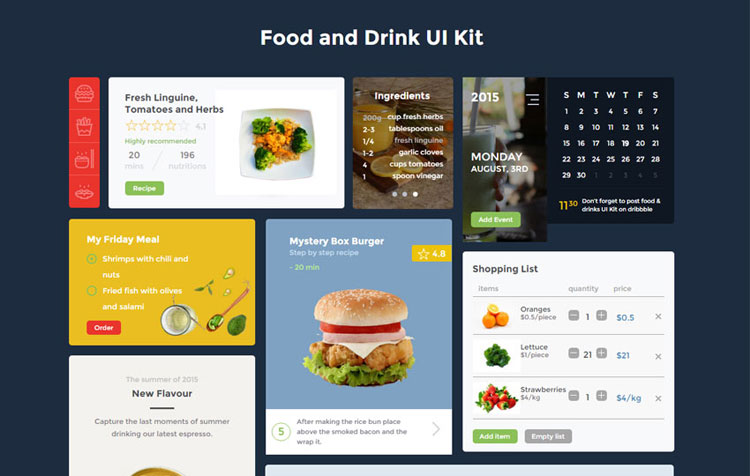 food-and-drink-bootstrap-ui-kit