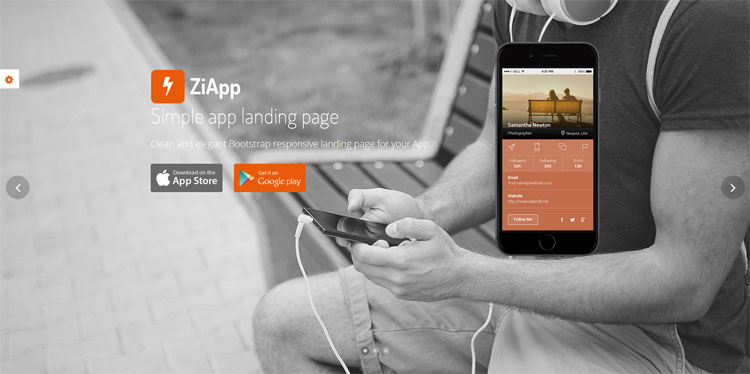 zi-simple-app-landing-page-template