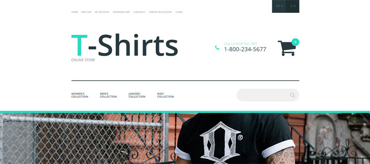 t-shirts-opencart-template