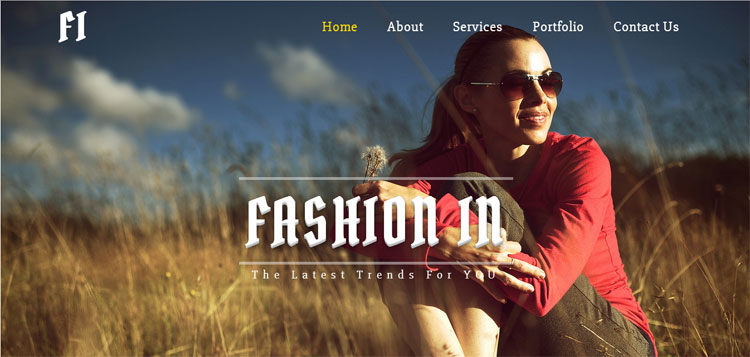 fashion-in-bootstrap-template