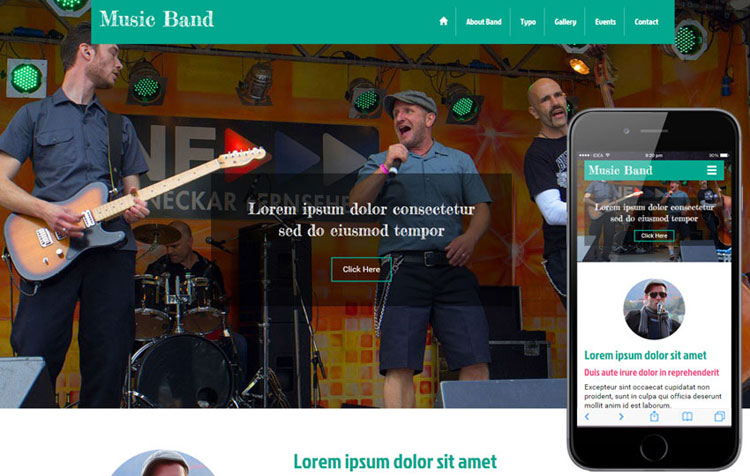 music-band-free-bootstrap-template