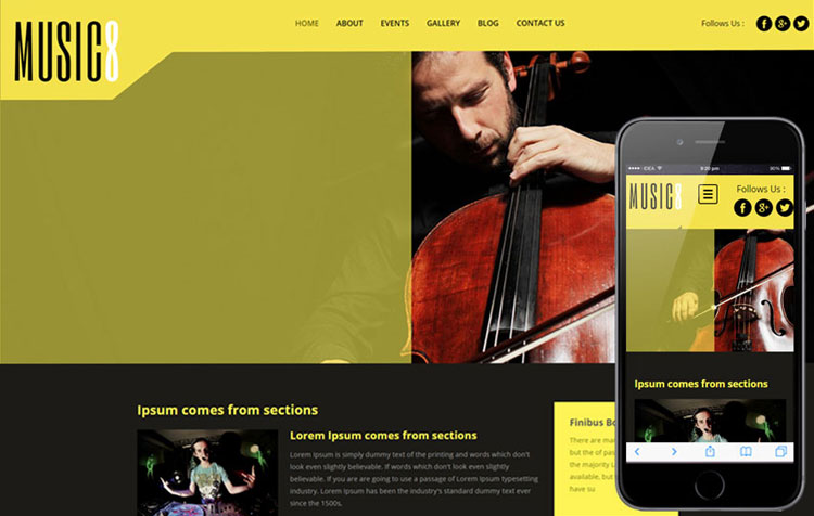 music8-bootstrap-entertainment-template