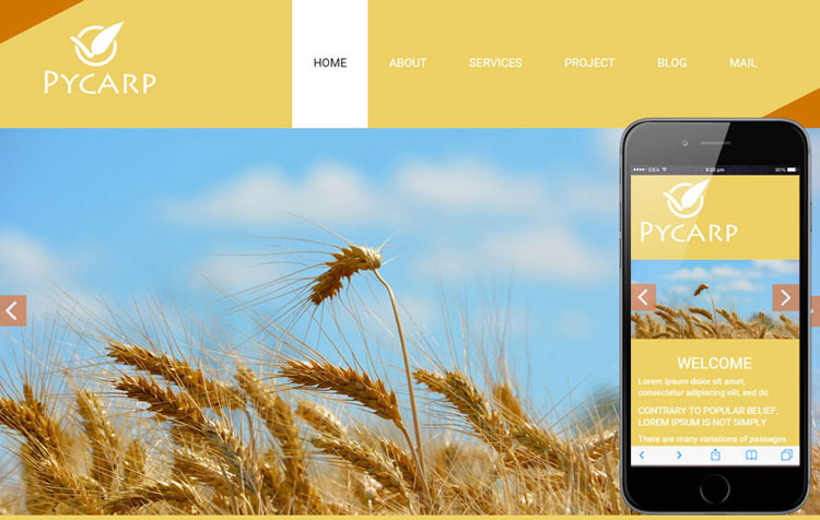 pycarp-agriculture-bootstrap-template
