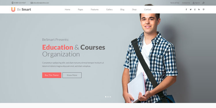 besmart-education-psd-template