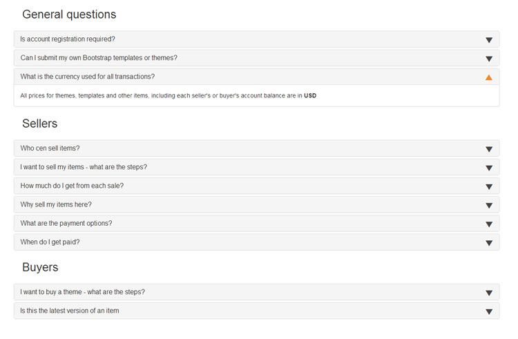 bootstrap-faq-template