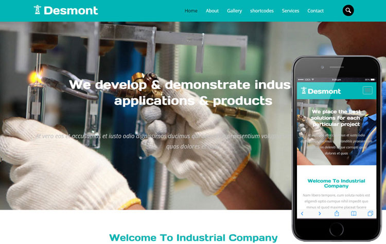 desmont-industrial-bootstrap-template