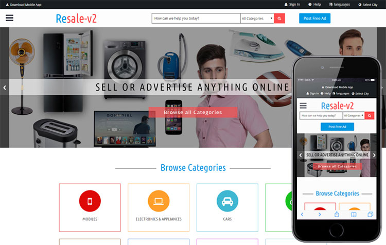 resale-v2-bootstrap-classified-template