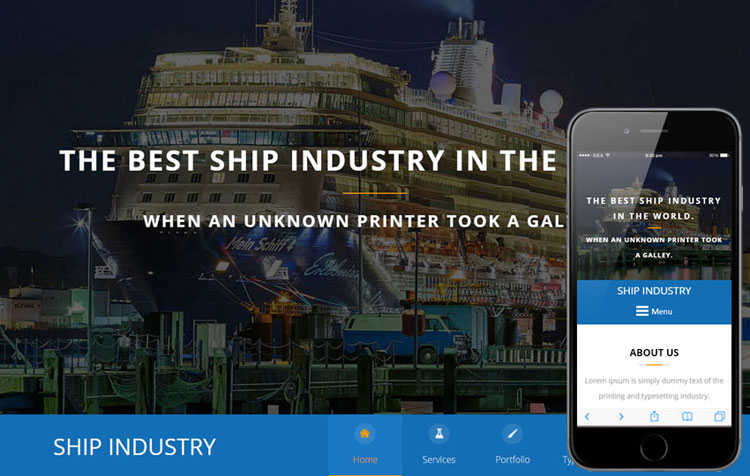 shipping-industry-bootstrap-responsive-template