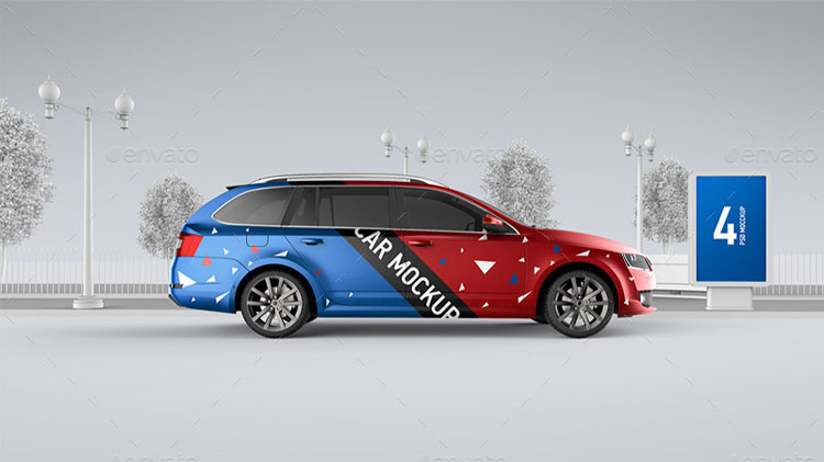 car-billboard-advertising-mockup