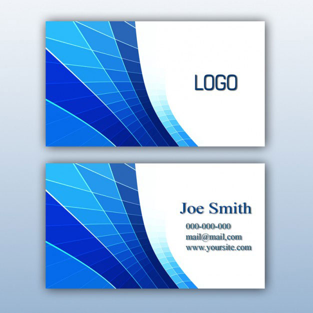 free-blue-business-card-design