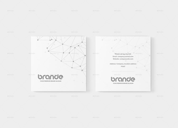 square business card mock up