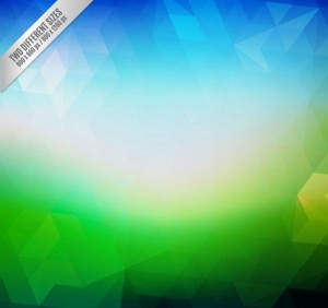 blue-green-abstract-polygonal-background