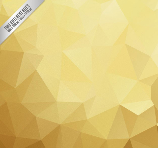 golden-polygonal-background-free-vector